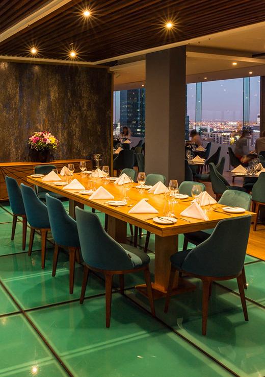 Chefs table restaurant